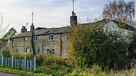 A row of cottages around 200-years-old in Waterbeach, where residents say they are potentially threatened by plans for a...