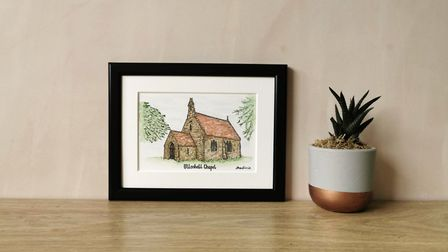 Church by Jessica Sian Illustration. Photo: Jessica Moulsher.