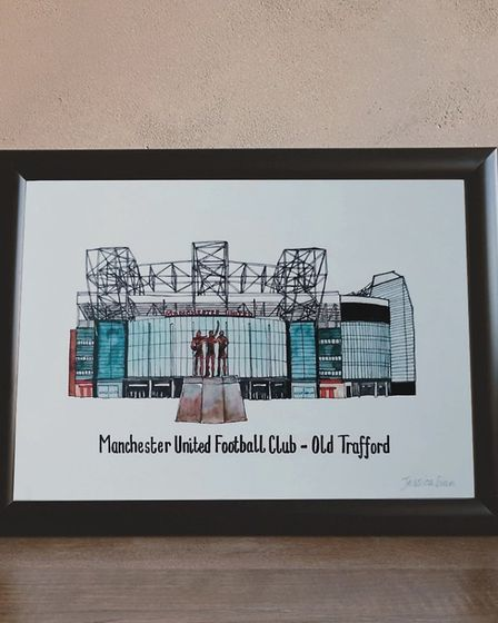Manchester United Football Club by Jessica Sian Illustration. Photo: Jessica Moulsher.