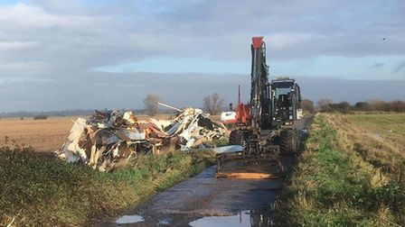 South Cambridgeshire District Council have started to remove seven illegally dumped static caravans in Cottenham. Picture:...