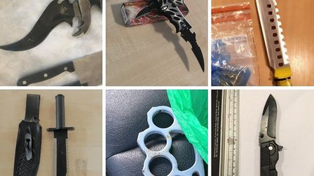 Some of the weapons that were seized by Cambridgeshire police over the year, as they encourage those in possession of...