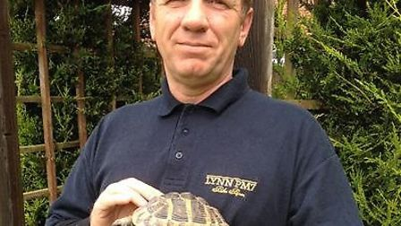 Palm Paper's Joe Cooper who discovered Tina the Tortoise amongst 20 tonnes of newspapers.