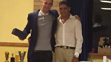 Chris Farrell can be seen with Jinna South and Nik Marsh at a Littleport Town Cricket Club awards night two seasons ago.
