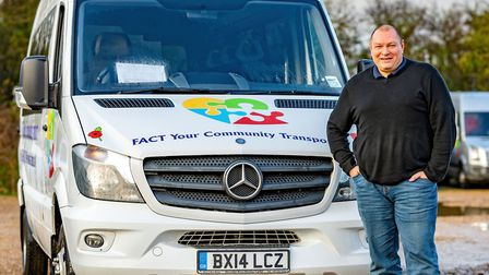 2020 Unsung Hero of the Year: Community transport provider chairman Gary Christy at FACT. Picture; DAVE HUMPHREY