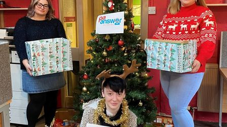 Ely company PA Answer is skipping its annual secret Santa in order to create hampers for those who are in need of food in...