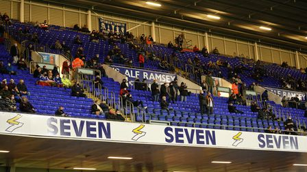 Fans pictured ahead of the game.