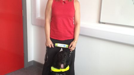 Visually impaired Lisa Smith, who works at Ormiston Venture Academy, is running to raise money for G