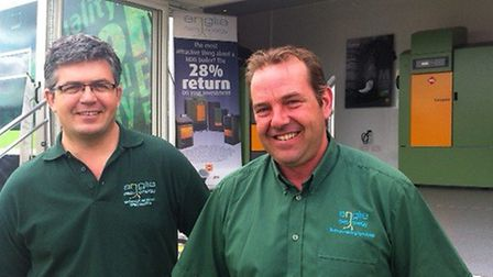 Rob Parke, left, and Neil Clark owners of Anglia Easy Energy