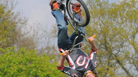 Have a go on a trials bike with Savage Skills, the UK's leading freestyle mountain bike stunt team.