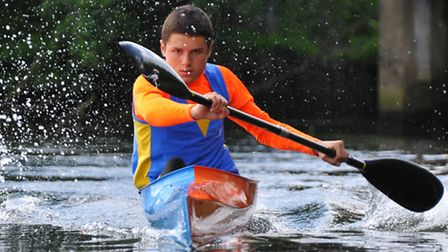 14-year-old Robert Barkway has been selected for the Eastern region talent squad in sprint kayaking