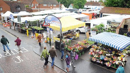 Fakenham Market has been moved to Bridge Street, due to the fire at the former Aldiss Department sto