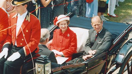 The Queen and the Duke of Edinburgh in 1986.
