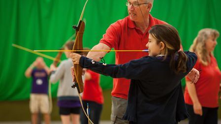 Active Norfolk youth games at Sportspark. Archaery. Photo: Bill Smith