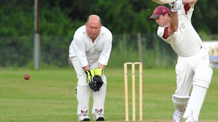 Cricket action. Picture: Simon Finlay