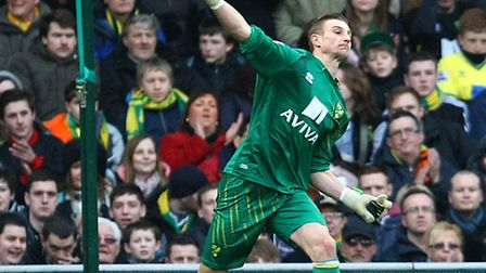 Norwich City's Declan Rudd is certain their will be no relegation hangover. Picture by Paul Chestert