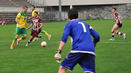 Anthony Pilkington during the pre-season friendly at Aosta. Picture by Stefano Gnech/Focus Images Lt