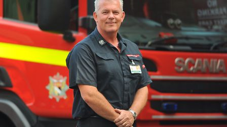 David Ashworth, operations manager at Hethersett Fire Service headquarters, who was one of the fire