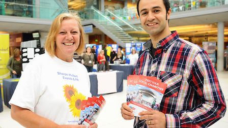 Organisers, Sharon Hulbert and Ronnie Zahdeh, at the Charities at Home event at the Forum. Picture: