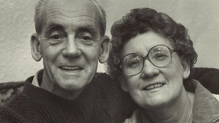 Albert and Violet Harrison, of Norwich, pictured in the 1980s.