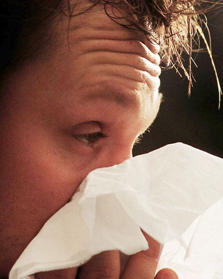 Embargoed to 0001 Thursday June 11File photo dated 23/01/04 of a man sneezing. Professor Jean Emberl