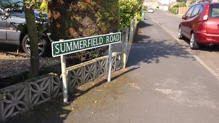 Summerfield Road in Hemsby, where a seven year boy suffered serious head injuries.