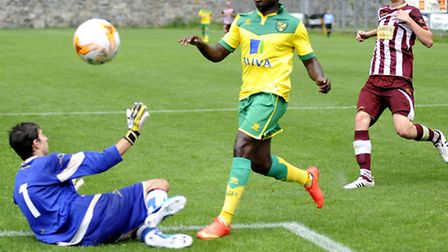 Norwich City's Jamar Loza struck a brace in the 13-0 win over SC Vallee d'Aoste. Picture by Stefano