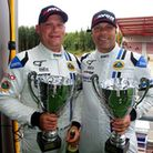 Gavan Kershaw (left) and Oz Yuzuf backed up their first GT4 victory at Snetterton with podiums at Sp