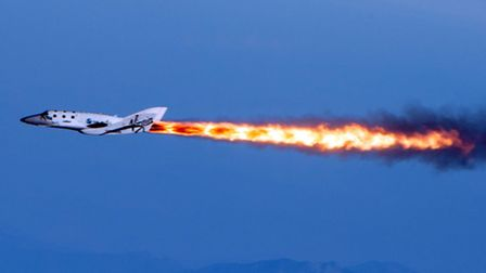 Virgin Galactic's SpaceShipTwo flies over Mojave, California. Could Norfolk host a spaceport for Ric