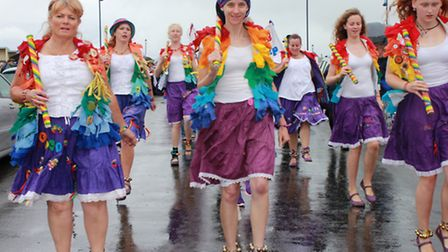 Dancers on parade at the 21st annual Potty Festival. Photo: Karen Bethell