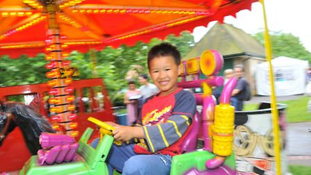 Lord Mayor's Celebrations 2014. Fun on the fair in Chapelfield Gardens.Photo by Simon Finlay.