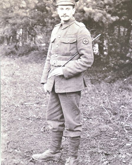 Dick Rayner's granddad, Alan William Stedman(pictured) fought in WW1 and died in a hospital in Liver