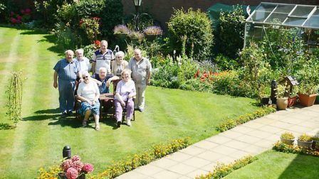 Pensioners at a Suffield Court in Swaffham have come together to create their own secret garden. Pic
