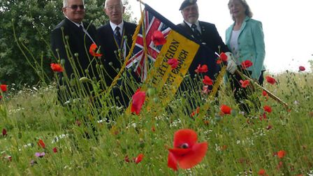 Tony Wheble, chairman of the Mildenhall and district Royal British Legion with president, Derek Last