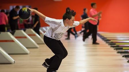 Talented youngsters at the British junior open 10-pin bowling at Bowthorpe over the weekend. Photo:
