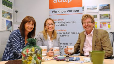 Liliya Serazetdinova, centre, programme manager for InCrops who support low carbon companies for the