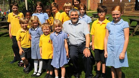 Head teacher at Mellis Primary School, Richard Cattermole retires today.Picture by: Sonya Duncan