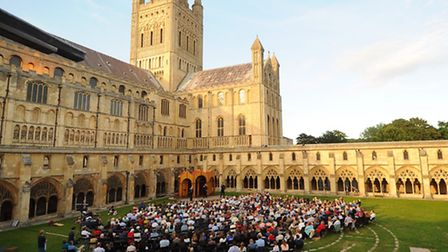 Much Ado About Nothing, performed by the Shakespeare's Globe at the Cathedral cloisters. Picture: De