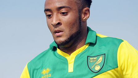 Action from Dereham Town v Norwich City at Aldiss Park - NCFC's Nathan Redmond. Picture: Matthew Ush