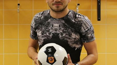 Robert Snodgrass is unveiled by Hull City. Picture: Hull City