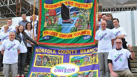 Unison workers will be among those going on strike on Thursday. Photo: Bill Smith