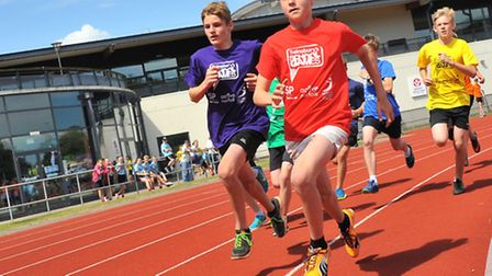 Norfolk School Summer Games athletics competition at the Sportspark.Photo by Simon Finlay.