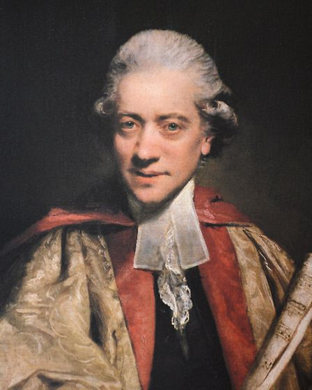 A painting of Charles Burney. Picture: Matthew Usher
