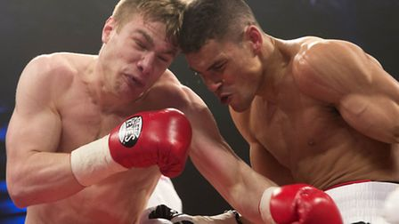 Anthony Ogogo is in action against Wayne Reed in Liverpool on Saturday night.