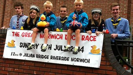 The 1st Norwich Sea Scout Group has organised this year's Great Norwich Duck Race in association wit