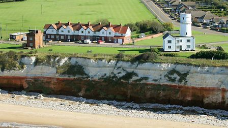 Hunstanton cliffs and lighthouse from the air. Picture: Mike Page