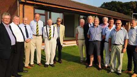 The new facilities at Manor Park cricket ground at Horsford are officially opened. Past and present