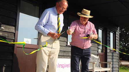 The new facilities at Manor Park cricket ground at Horsford are officially opened. Richard Jefferson
