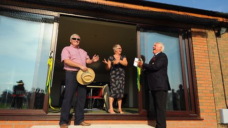 The new facilities at Manor Park cricket ground at Horsford are officially opened. Maureen Wilkinson