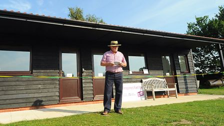 The new facilities at Manor Park cricket ground at Horsford are officially opened. Steve Read, Horsf
