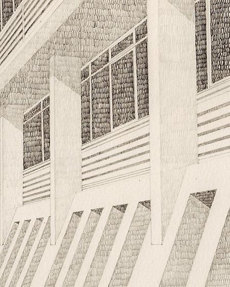Michael Lewis drawings of Anglia Square